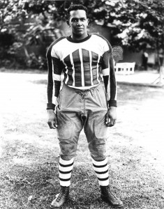 A young Manuel Rivero in his football gear.
